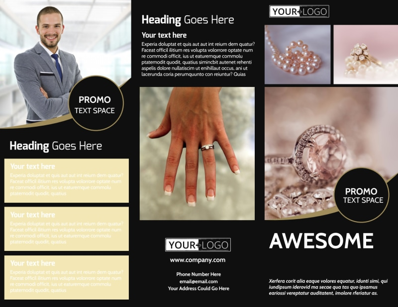 Elegant Jewelry Brochure Template Preview 2