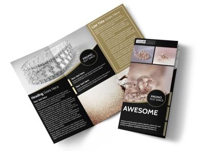 Elegant Jewelry Tri-Fold Brochure Template