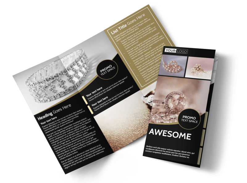 Elegant Jewelry Brochure Template Preview 1