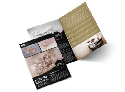 Elegant Jewelry Bi-Fold Brochure Template