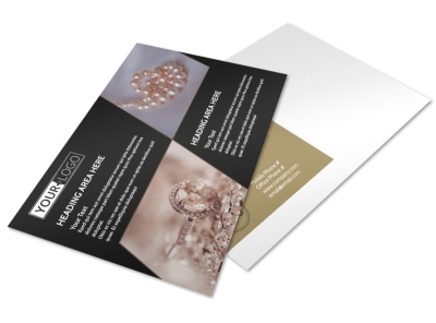 Elegant Jewelry Postcard Template