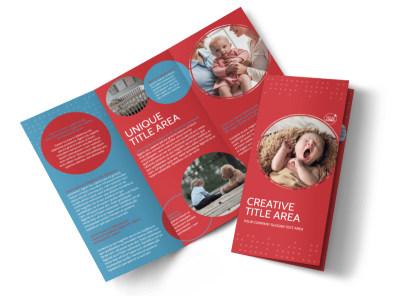 Baby Boutique Tri-Fold Brochure Template preview