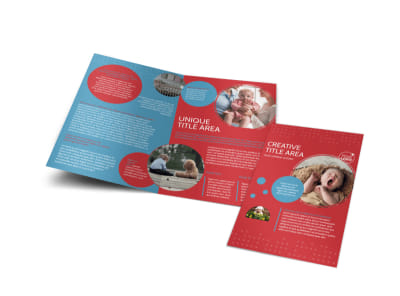Baby Boutique Bi-Fold Brochure Template