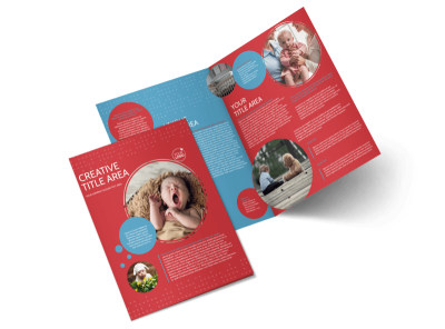 Baby Boutique Bi-Fold Brochure Template preview