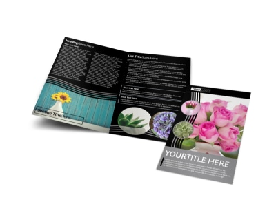 Floral Gift & Garden Bi-Fold Brochure Template preview