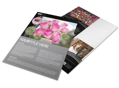 Floral Gift & Garden Flyer Template preview
