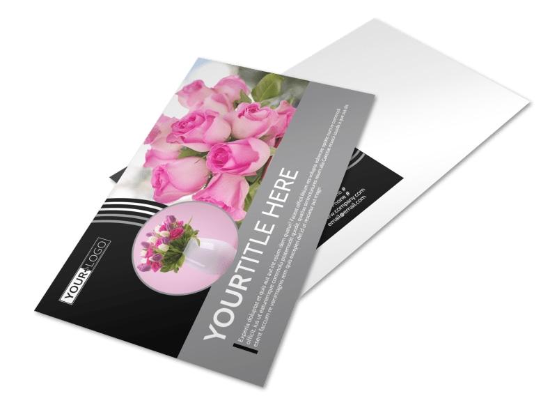 Floral Gift & Garden Postcard Template