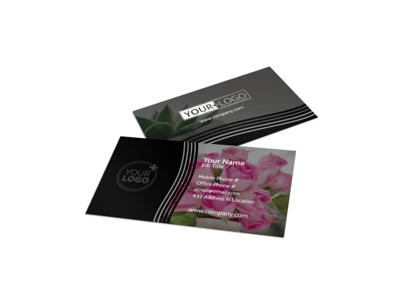 Floral Gift & Garden Business Card Template