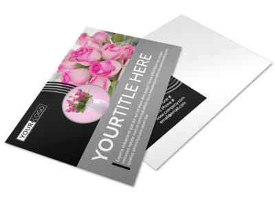 Floral Gift & Garden Postcard Template preview