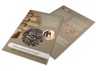 Lumber Yard Flyer Template preview
