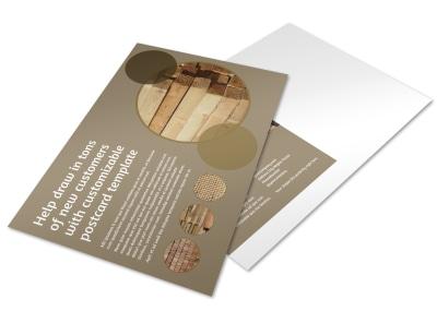 Lumber Yard Postcard Template preview