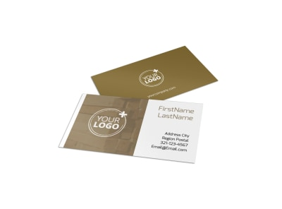 Lumber Yard Business Card Template preview