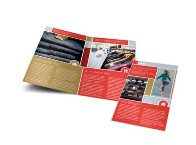 Boutique Cothing Store Bi-Fold Brochure Template preview
