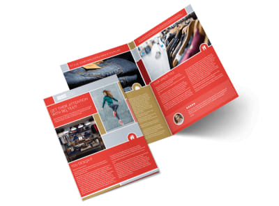 Boutique Cothing Store Bi-Fold Brochure Template