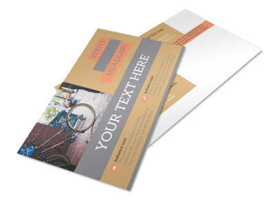 City Bike Rentals Postcard Template preview