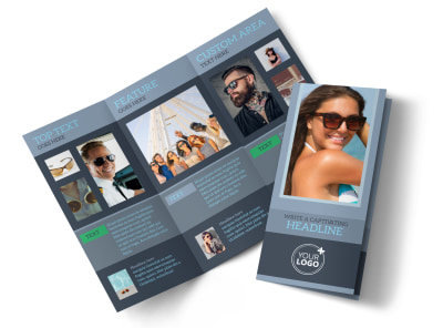Sunglasses Store Tri-Fold Brochure Template