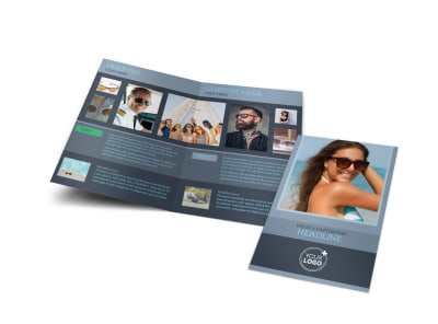 Sunglasses Store Bi-Fold Brochure Template