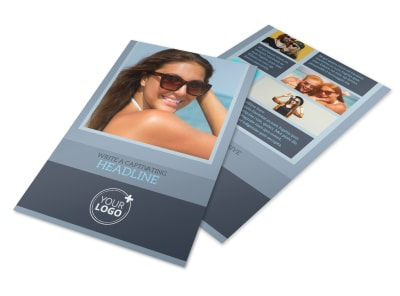 Sunglasses Store Flyer Template preview