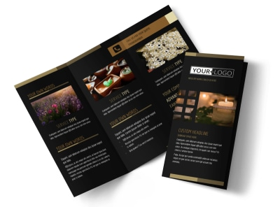 Candles & Scents Tri-Fold Brochure Template preview