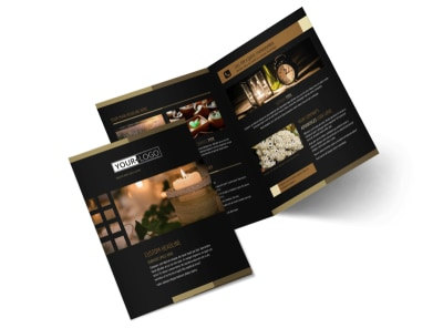 Candles & Scents Bi-Fold Brochure Template preview