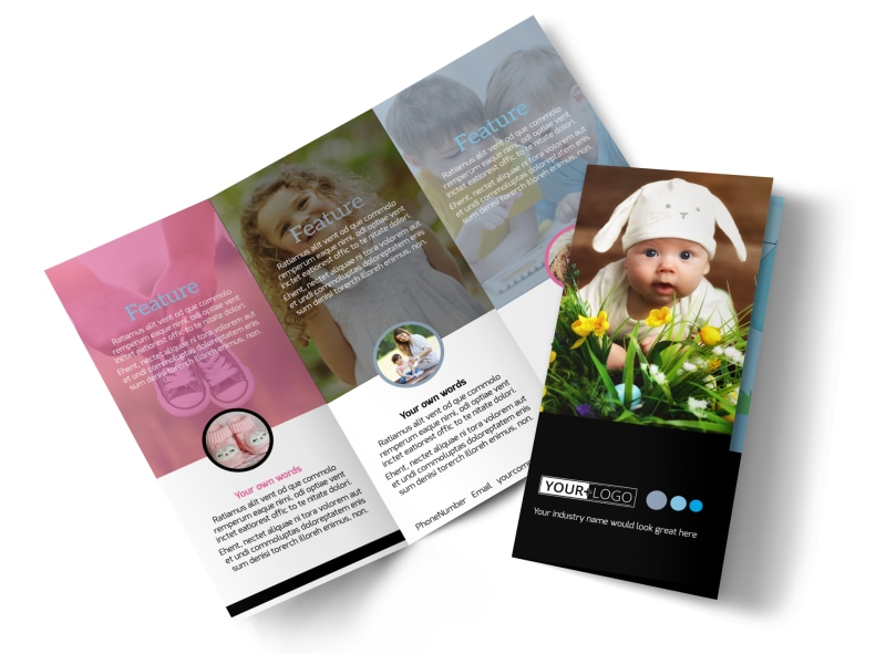 Baby Clothes Tri-Fold Brochure Template