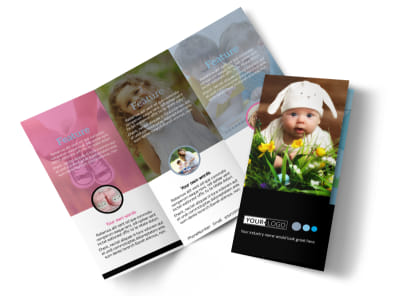 Baby Clothes Tri-Fold Brochure Template preview