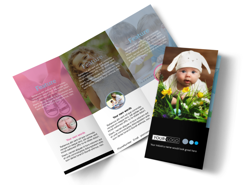 Baby Clothes Brochure Template Preview 1