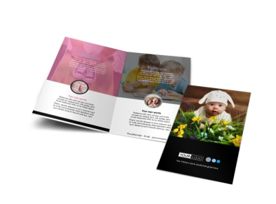 Baby Clothes Bi-Fold Brochure Template preview