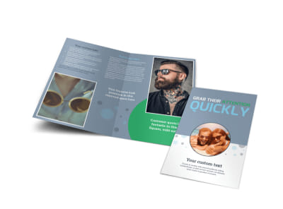 Popular Sunglasses Bi-Fold Brochure Template