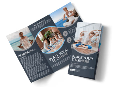 Yoga & Meditation Studio Tri-Fold Brochure Template preview