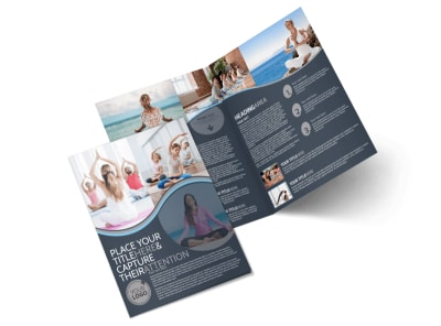 Yoga & Meditation Studio Bi-Fold Brochure Template preview