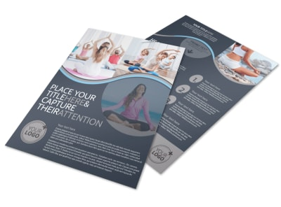 Yoga & Meditation Studio Flyer Template preview