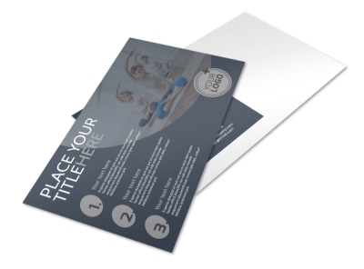 Yoga & Meditation Studio Postcard Template preview