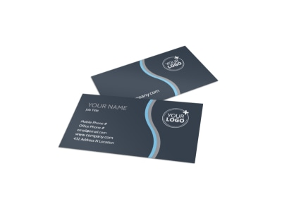 Yoga & Meditation Studio Business Card Template preview