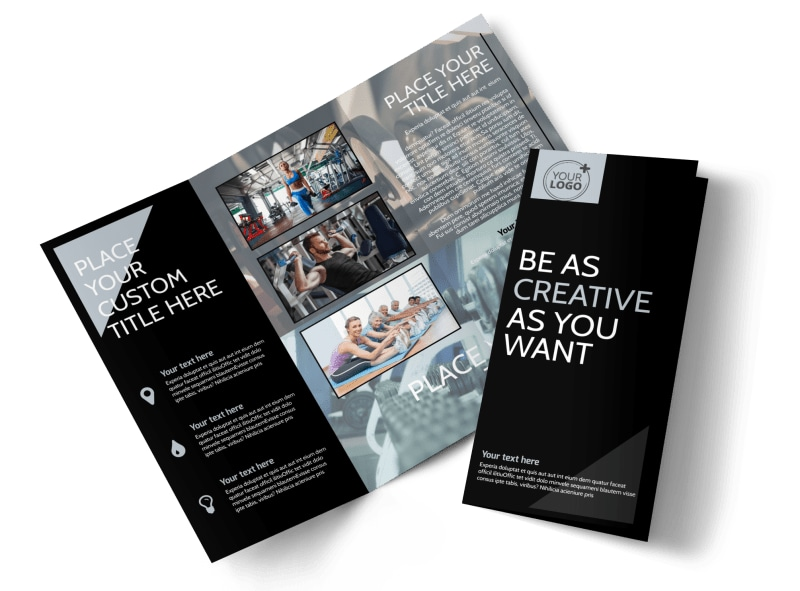 Local Gym Tri-Fold Brochure Template
