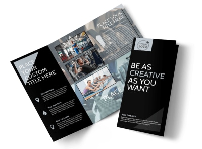 Local Gym Tri-Fold Brochure Template preview