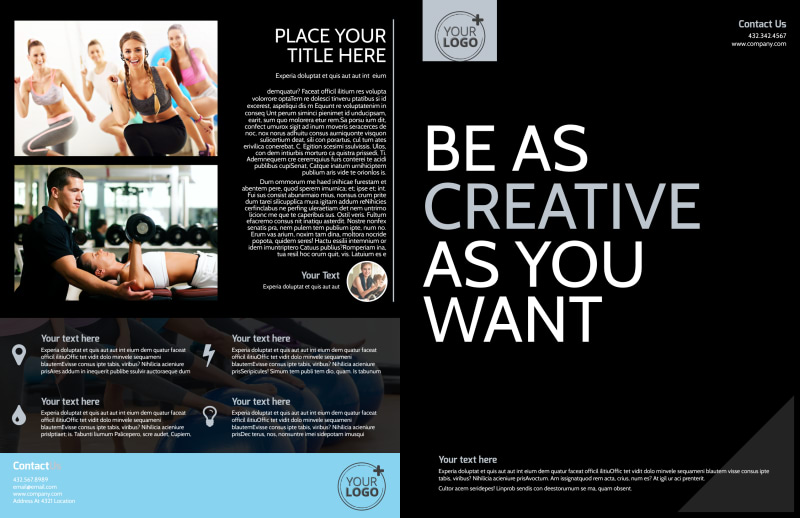 Local Gym Brochure Template Preview 2