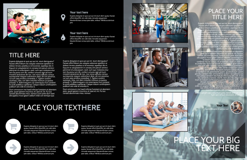 Local Gym Brochure Template Preview 3
