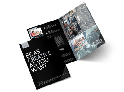 Local Gym Bi-Fold Brochure Template preview