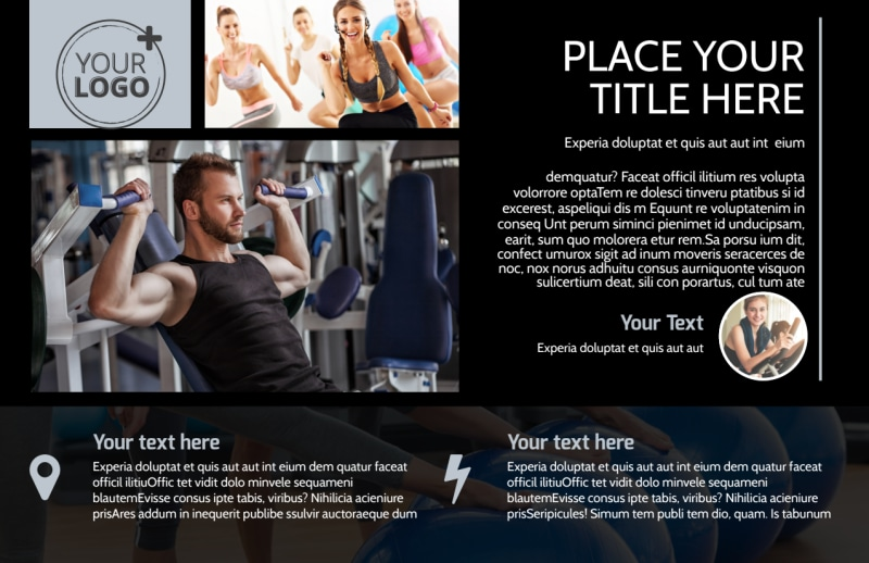 Local Gym Postcard Template Preview 2