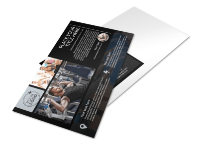 Local Gym Postcard Template