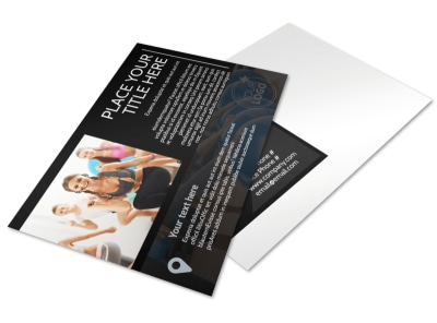 Local Gym Postcard Template preview