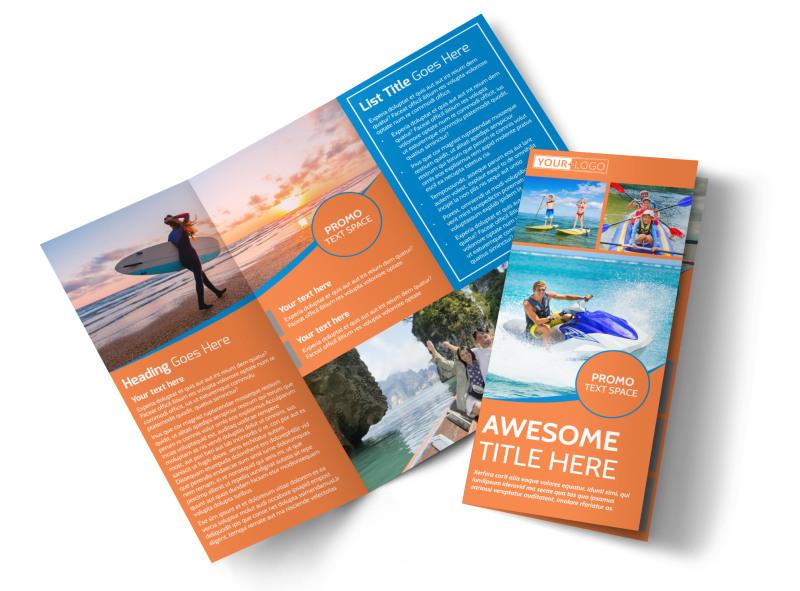 Bay Water Sport Rentals Tri-Fold Brochure Template
