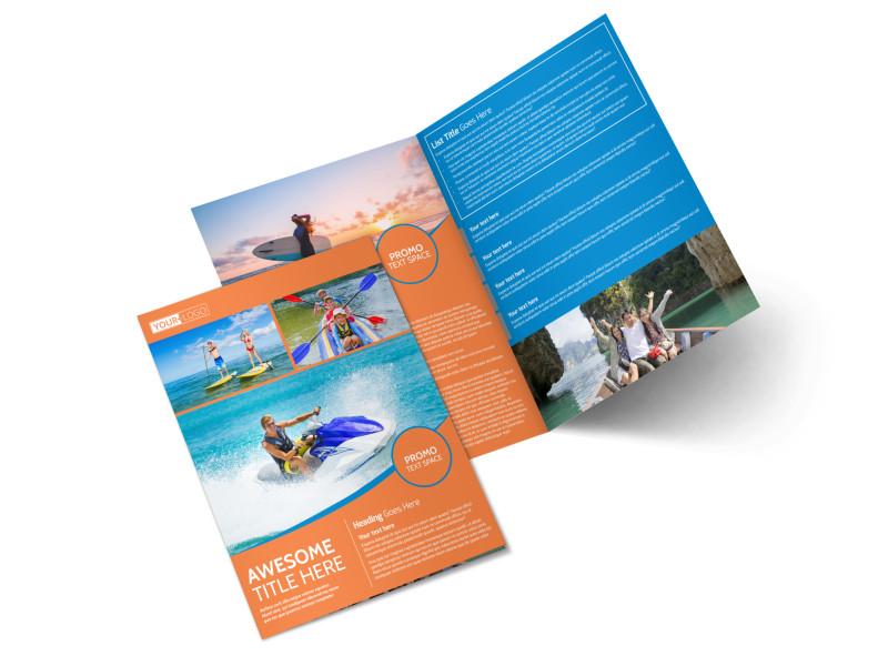 Bay Water Sport Rentals Bi-Fold Brochure Template