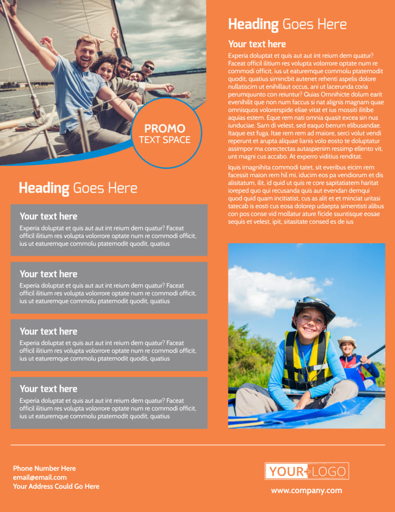 Bay Water Sport Rentals Flyer Template Preview 3