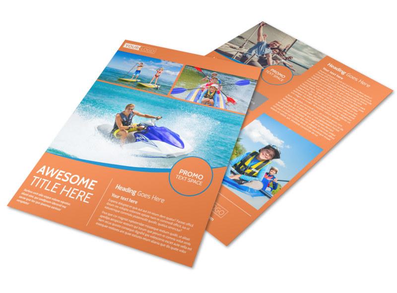 Bay Water Sport Rentals Flyer Template