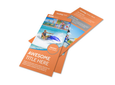 Bay Water Sport Rentals Flyer Template