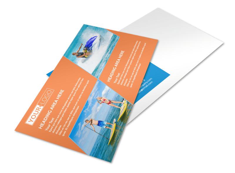 Bay Water Sport Rentals Postcard Template