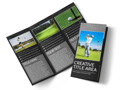 Golf Course Tri-Fold Brochure Template preview