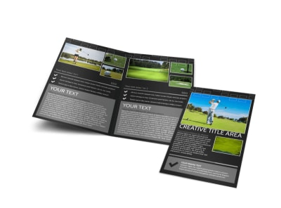 Golf Course Bi-Fold Brochure Template preview